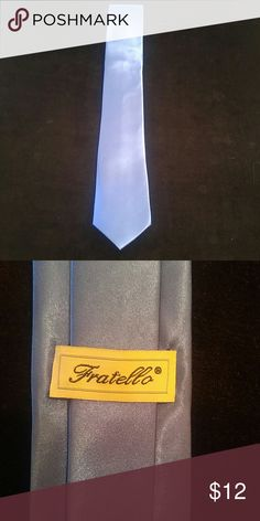 """MEN'S ROYAL BLUE SATIN RAYON SLIM TIE BY FRATELLO Men's royal blue satin rayon slim tie by Fratello 100% satin polyester 2 3/4"""" wide Hand made in China FRATELLO Accessories Ties"""
