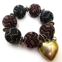 A little bit Missoni - Bracelet with beaded beads