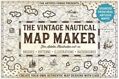The Vintage Nautical Map Maker by The Artifex Forge on @creativemarket