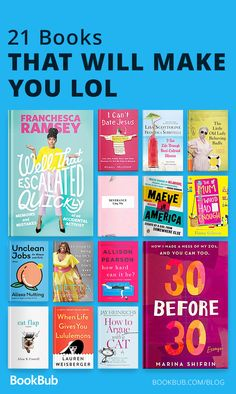 This reading list is for people who want to have a good laugh! These books are hilarious and will make you lol. #bookrecs #funnybooks #reading