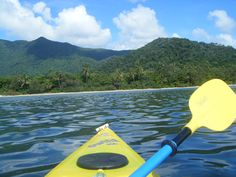 Kayaking at Cape Tribulation, where the rainforest meets the Great Barrier Reef - north of Cairns & Port Douglas