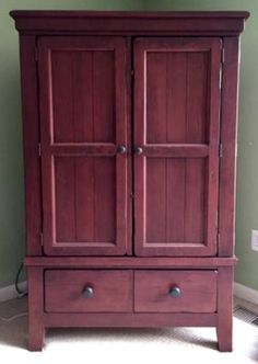Superieur Broyhill Attic Heirlooms TV Armoire In Red Stain ❤️