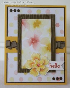 Petite Petals with a coordinating punch!  Works will with the Flower Shop stamp set.  Love the Watercolor Wonder DSP!