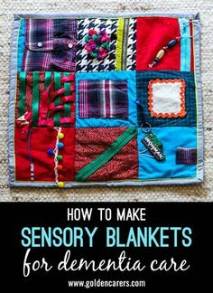 Sensory Mats or Fidget Blankets provide a soothing and stimulating activity for people living with dementia or recovering from strokes.