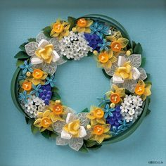 Quilled Wreath - by:   クイリングとは