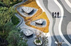 Ideas For Landscape Design Plaza Architecture Landscape Concept, Fantasy Landscape, Landscape Lighting, Urban Landscape, Landscape Plaza, Landscape Architecture Design, Design Plaza, Parque Linear, Paving Pattern