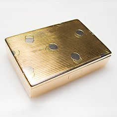 Fine Cartier Vintage Cigarette Case Double Circle Stripe Motif Solid 18K Gold | eBay