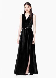 Vestido comprido veludo