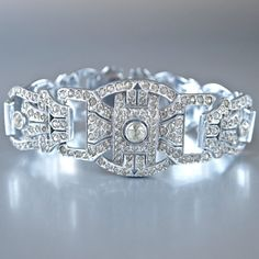 Hey, I found this really awesome Etsy listing at https://www.etsy.com/listing/216481365/czech-art-deco-bridal-bracelet-sparkling. $300