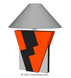 TDS - The Design Service - New Donald Deskey painted Art Deco Cubist Geometric painted and silver leafed table lamp