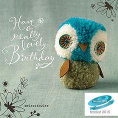 Pom pom owl – 'Tiddly pom pom' Paper Rose - Pom pom owl – 'Tiddly pom pom' Paper Rose The Effective Pictures We Offer You About crafts fo - Pom Pom Owl, Pom Pom Animals, Pom Pon, Crafts To Sell, Diy And Crafts, Crafts For Kids, Arts And Crafts, Sell Diy, Rose Crafts