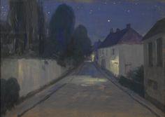 """thunderstruck9:  """"Constant Montald (Belgian, 1862-1944), Paysage de nuit [Night Landscape], 1916. Gouache and pastel on papier, 51 x 71 cm.  """""""