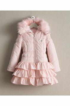 Girls Ring-of-ruffles Puffer Coat: #Chasingfireflies $114.97