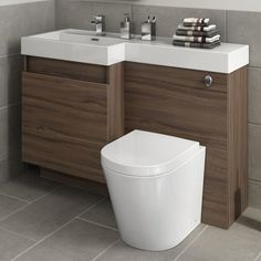 Our walnut bathroom storage units are ideal for family bathrooms and add a touch of style to a practical space. This range features a white high gloss finish which is perfect for modern bathrooms. Sink Vanity Unit, Bathroom Vanity Units, Double Sink Vanity, Bathroom Toilets, Bathroom Layout, Bathroom Ideas, Bathroom Designs, Bathroom Inspiration, Bathroom Interior