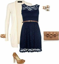 Navy dress khaki accessories