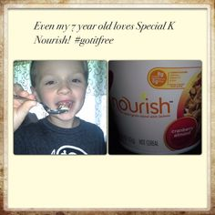 Even my 7 year old loves Kellogg's Nourish hot cereal in cranberry almond. #gotitfree #specialk