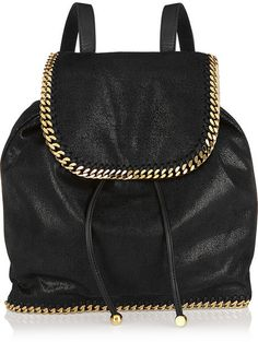 Stella McCartney The Falabella faux brushed-leather backpack Types Of  Purses, Backpack Purse, 8f8a514dd0