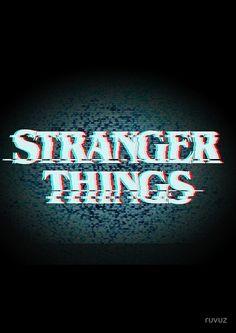 STRANGER THINGS - VHS ( fuzzy screen )