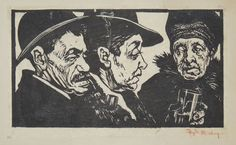 [Two men and a Woman.]   Haydn Mackey [signed in red pencil lower right.]  [n.d. c.1920.] £160 excl VAT