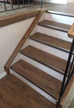 vinyl plank on stairs - Google Search