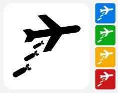 Carpet Bomb Icon Flat Graphic Design vector art illustration