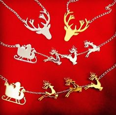 Laser cut mirror acrylic for a client. Gold and silver Christmas reindeers and Santas