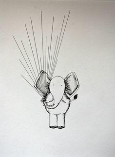 Elephant Fingerprint Guest Book on Etsy, $50.00