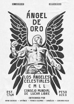 Zoran Lucić's posters for Lucha Libre visualise the stars of Mexican wrestling Published by Maan Ali Mexican Graphic Design, Mexican Designs, Blue Demon, Wrestling Posters, Mexican Wrestler, Business Postcards, Typographic Poster, Mexican Art, Graphic Design Inspiration