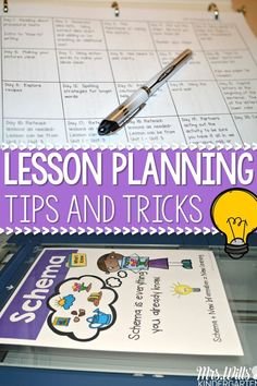 Lesson Planning Tips and Tricks are the Secret!  Easy lesson planing, organization and more! Writers Workshop, Math Workshop, Guided Reading, and Reading Comprehensions Lessons for Kindergarten and First Grade.  Just Print and TEACH!