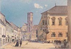 Rudolf Von Alt - Die Pfarrkirche in Ofen