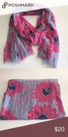 Banana Republic floral scarf Banana Republic floral print polyester scarf, good condition only used a few times Banana Republic Accessories Scarves & Wraps