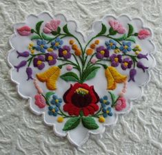 Hungary - Kalocsa - embroidered heart with