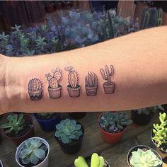 "World of Artists (@worldofartists) on Instagram: ""Little cactus tatts By @resendemarcella.tattoo . Follow @worldofartists """