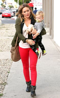 Cherry Pants from Celebrity Street Style | E! Online-Hilary Duff