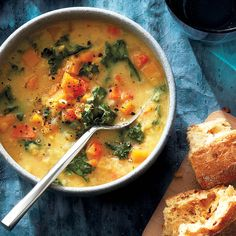 On cold winter nights, a hearty bowl of red lentil coconut-miso soup will warm you right up. Vegetarian Soup, Vegetarian Recipes, Healthy Recipes, Weeknight Recipes, Protein Recipes, Vegan Soups, Vegetarian Options, Vegan Options, Healthy Soup