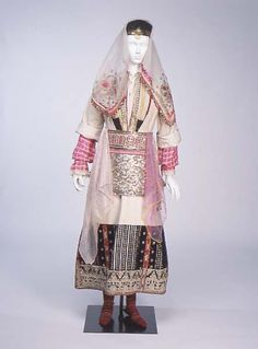 Wedding dress, 1900-14, Serbia and Montenegro.