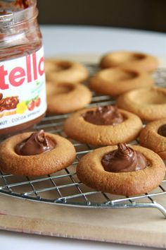 Crumbs and Cookies: peanut butter thumbprints with nutella or jam.