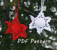 Snowflake crochet pattern, Christmas ornament, Christmas tree home decor, Home decoration, Snowflake garland, Winter Crochet DIY Gifts by CrochetByPapilio on Etsy