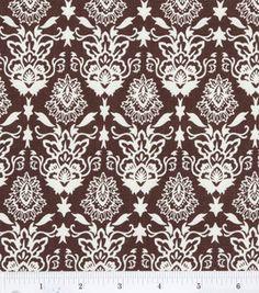 Quilter's Showcase Fabric-Brown Fall Damask & keepsake calico fabric at Joann.com