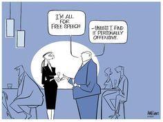 Freedom of speech - Ann Telnaes