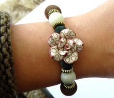 """BRACELET Fleur esprit nature fait main unique et original """" bijou d'automne"""" : Bracelet par leslie-sang-tao"""