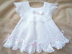 Crocheted Christening Dress от SvitlanaSky на Etsy, $60.00