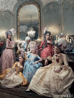"lesbeehive: "" Les Beehive – Kirsten Dunst as Marie Antoinette by Annie Leibovitz for Vogue, September 2006 """