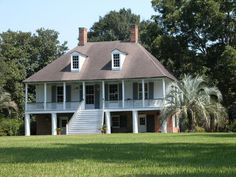Alice Plantation House was built in1816 even though the marker outside says 1790. House was originally built in Baldwin, Louisiana, but in 1961 it was floated up Bayou Teche to its present location near Jeanerette, Louisiana