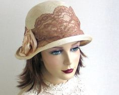 Straw Cloche Hat Women Spring Fashion by katarinacouture on Etsy, $118.00