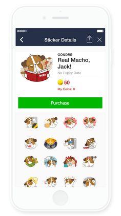 [Gondre&Friends] LINE sticker  https://store.line.me/stickershop/product/1182988/ko  #character #line #sticker #illust #dog #jack #gondre