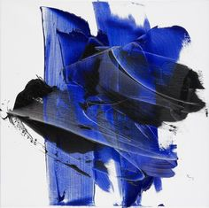 Jean Soyer - Dark and Blue on White Background Hashtag Shaped Squared Abstract Oil Painting For Sale at Large Artwork, Cool Artwork, Oil Painting For Beginners, Step By Step Painting, Oil Painting Abstract, Large Painting, Contemporary Artwork, Paintings For Sale, Colorful Backgrounds