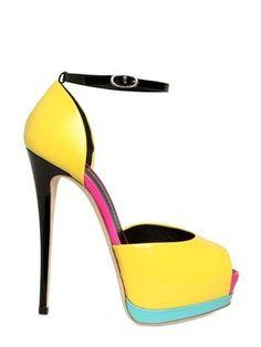 ShopStyle: Giuseppe Zanotti - 140mm Patent Peep Toe Sandals