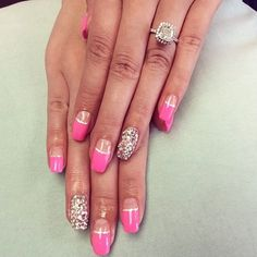 Pink Rhinestone Nails by @myubeauty #nails #nail #style #TagsForLikes #cute #beauty #beautiful #instagood #pretty #nailpic #stylish #sparkles #instanails #gliter #nailart #art #photooftheday #love #shiny #polish #nailpolish #nailswag #notd #nails2inspire #nailaddict #nailporn #gelnail #japanesenail #Padgram