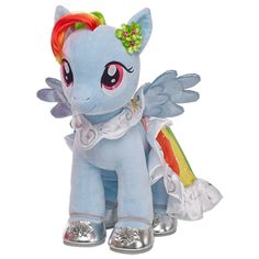 Make your own MY LITTLE PONY at Build-A-Bear Workshop! I'm really half tempted to buy one since I don't know when I will be able to make it to a store.